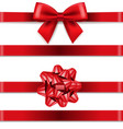 red bows collection isolated white background vector image vector image