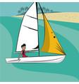 sailing water sport vector image vector image