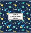 seamless cartoon space pattern vector image vector image