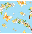 Seamless pattern with spring theme vector image vector image