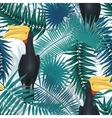 seamless tropical pattern exotic background vector image