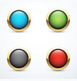 set of gold buttons vector image