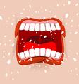 Shout aggressive face Man Yells Violent emotion vector image vector image