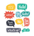 sketch speech bubbles vector image vector image