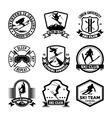 Ski Jumping Badges vector image vector image