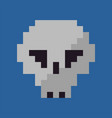 skull pixel art icon skeleton sign bone vector image vector image