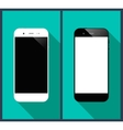 Smartphones long shadow vector image vector image