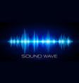 sound waves oscillating glow light digital wave vector image vector image