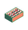 supermarket stand isometric composition vector image vector image