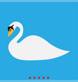 swan icon different color vector image