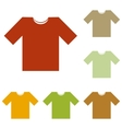 T-shirt sign vector image