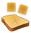 Toast icons top and isometric views vector image vector image