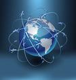 Transportation Earth - America vector image vector image