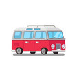 travelling trailer van color transport for trips vector image vector image