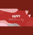 valentines day abstract background with copy space vector image vector image