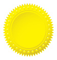 Wax gold seal vector image vector image