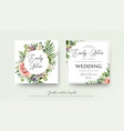 wedding art trendy floral invitation card design vector image vector image