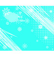 winter grunge background with halftone dots vector image