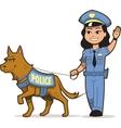 K-9 Police Dog vector image