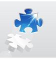 3d puzzle vector image