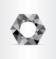 abstract polygon grayscale geometric background vector image vector image
