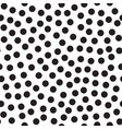 abstract seamless pattern with dots on white vector image