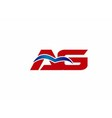 AG letter logo vector image vector image