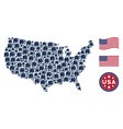 american map mosaic of elephant vector image