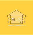 automation home house smart network flat line vector image
