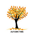 autumn time card vector image vector image