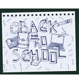 Back to School Test Book 02 A vector image vector image