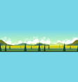 banner with green landscape vector image