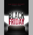 black friday mega sale poster template vector image vector image
