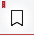 bookmark icon in modern style for web site and vector image