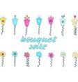 bouquet sale hand lettering vector image vector image
