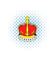 British crown icon comics style vector image