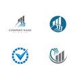 business finance professional logo vector image