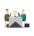 business people in flat style vector image vector image