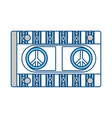 cassete in hippie style icon vector image vector image