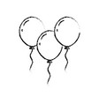 christmas three balloons flying decoration vector image vector image