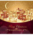 christmas with town vector image vector image