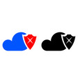 cloud security icon vector image