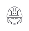 construction mask line icon concept construction vector image vector image