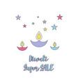 creative poster sale happy diwali vector image