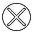cross line icon web and mobile delete sign vector image