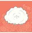 Cute Hand Drawn Sheep vector image