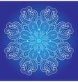 Decorative round ornament vector image vector image