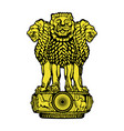 emblem of india black and white vector image vector image