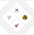 flat icon study set of flask irradiation vector image vector image