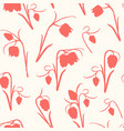 floral seamless pattern spring tulip flowers stem vector image